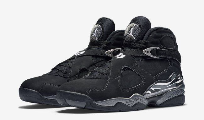 on sale 32eeb 4f369 Official images and purchase information for the recently-released Air  Jordan 8 Retro Black Chrome colorway, style 305381-003.