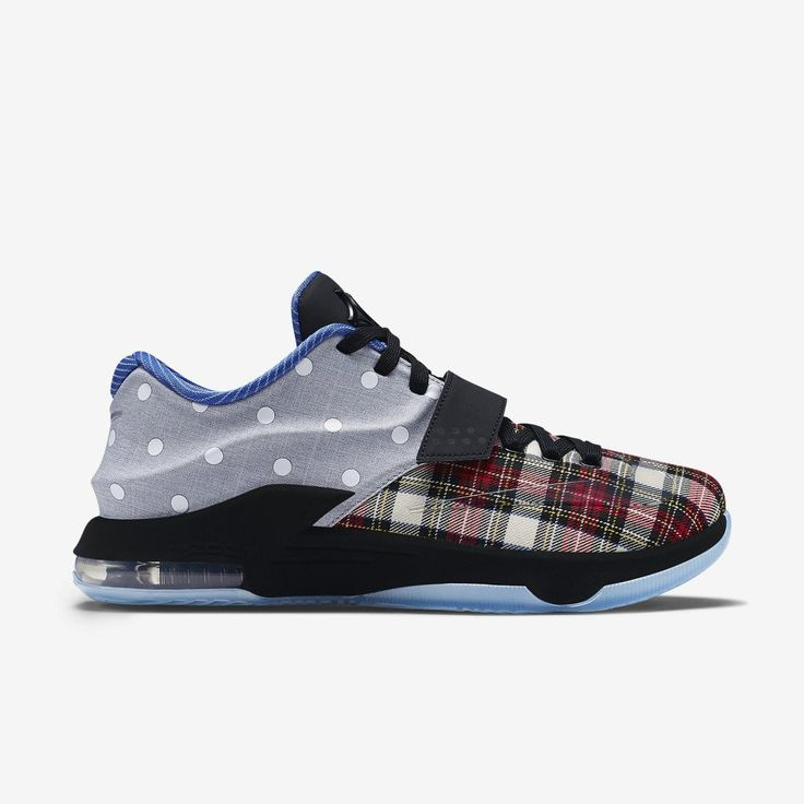 The Nike KD 7 EXT Polka Dot release date is officially set. The Nike  Sportswear-remixed, off-court edition pairs red plaid and polka-dotted  chambray .