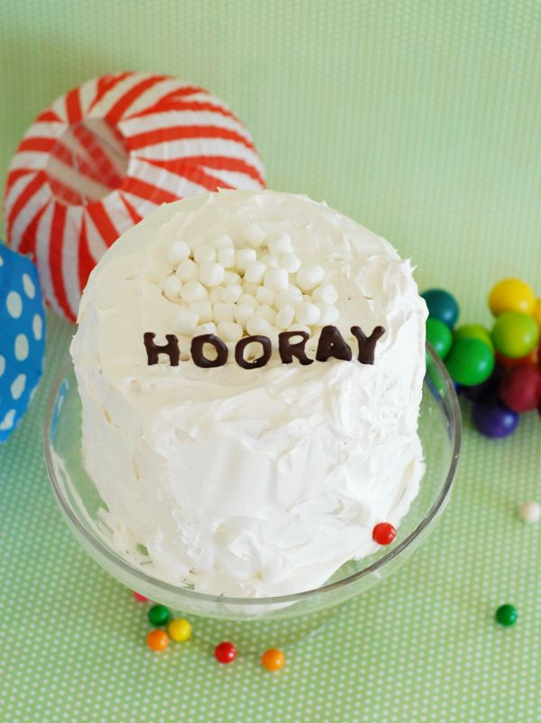 3 ingredient layer cake and chocolate letters http://asubtlerevelry.com/3-ingredient-layer-cake-and-chocolate-letters/