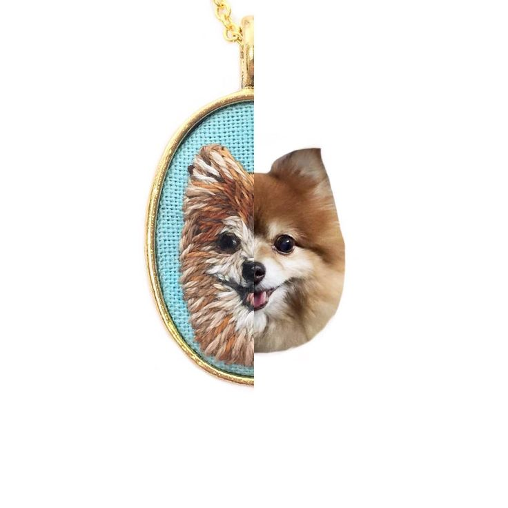 Pet portrait side by side view. Hope everyone has a nice weekend! Find more details on how to customize your very own pet pendant in shop!…