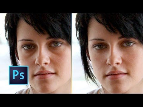 Tutorial Photoshop CC | Quitar ojeras de forma realista - YouTube