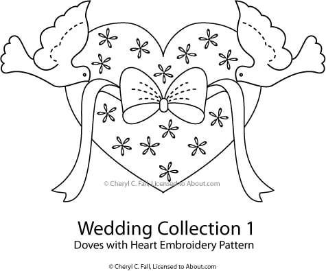 Bridal and Wedding Patterns - Wedding Embroidery Projects