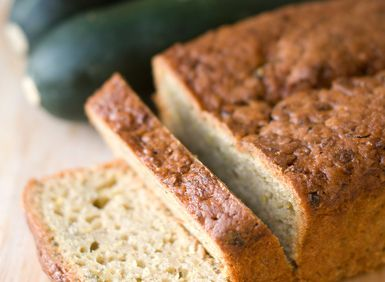 zucchini bread with fresh zucchini - rtyree1/ E+/Getty Images