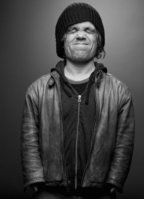 peter dinklage, actor, dworf, face, beauty, intense, portrait, photograph, photo b/w.