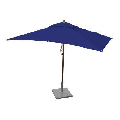 Greencorner 10 x 6.5 ft. African Mahogany Rectangular Patio Umbrella Ocean Blue - RC1065QS2018, Durable