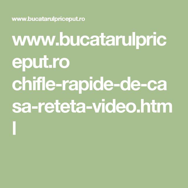 www.bucatarulpriceput.ro chifle-rapide-de-casa-reteta-video.html