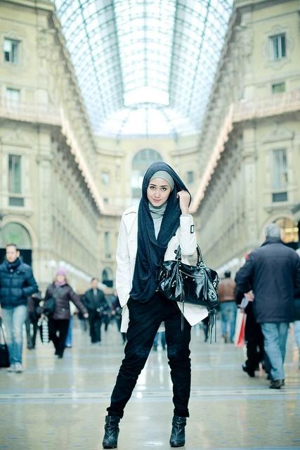 Woman hijab-style