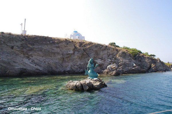sailing to Inousses island, Chios