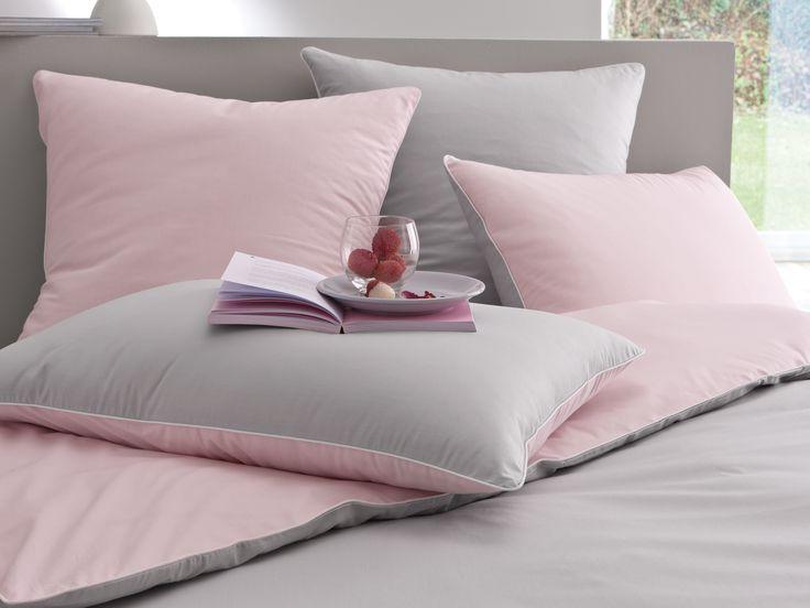 17 best images about linge de lit bicolore on pinterest for Housse de couette rose et taupe