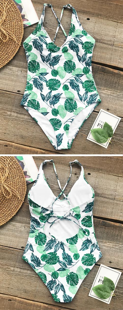 Are you planning for a beach party or barbeque? You'll be satisfied with Cupshe Beauties Of Nature Print One-piece Swimsuit. It works great when you are sipping fruity rum drinks or play on the sand. FREE shipping. Pack now.