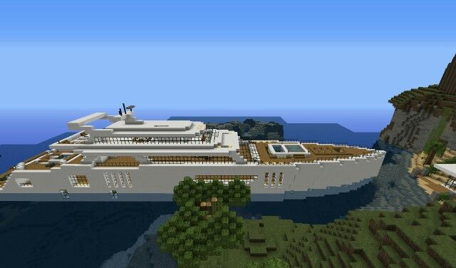 Minecraft Luxury Yacht 2 0 Hair Pinterest Luxury yachts