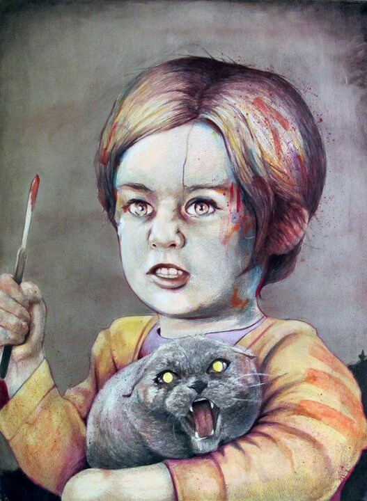 """Pet Sematary's Gage.  """"First I play with Judd, then mommy came, and I play with mommy. We play daddy, we had an awful good time. Now I want to play with youuuuuu."""" #stephenking"""