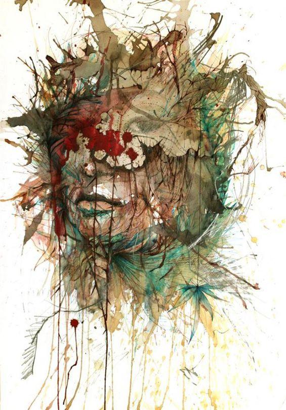 Carne Griffiths drawing: Art Work, Guilt Gicl, Drawings, Carne Griffith, Teas, Griffith Artworks, Mixed Media, Fine Art, Inspiration Fine