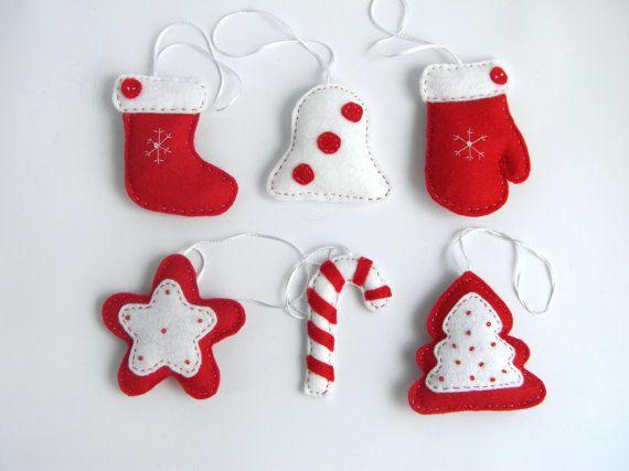40 best Christmas decor images on Pinterest Wool felting - felt christmas decorations