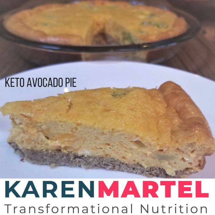 Keto Avocado Pie - Karen Martel Nutrition