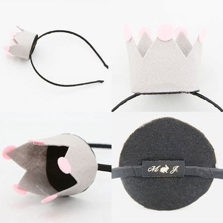 merry jane : Felt crown on headband...my nieces would love this!
