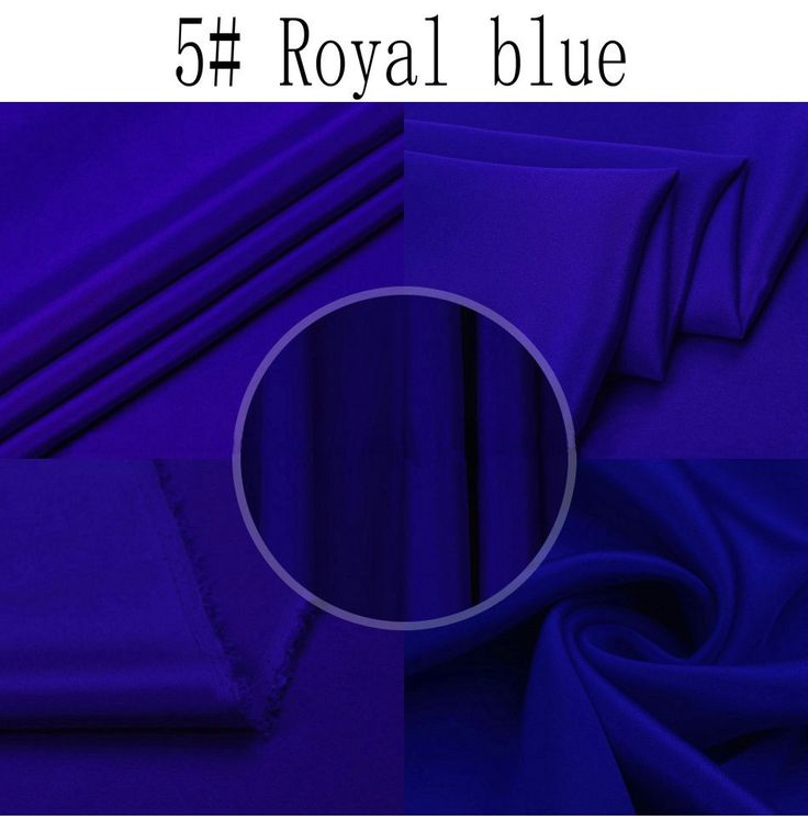Royal blue140CM 30mm Royal blue nature silk crepe  fabric Heavy silk fabric #Affiliate