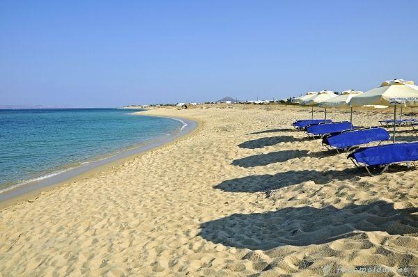 Sandy beach of Agia Anna