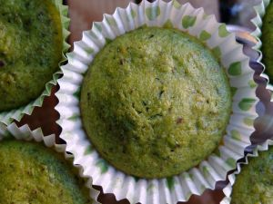 L'incredibile Hulk (tortina con zucchine e pistacchi) - The incredible Hulk (zucchini cake with pistachios)