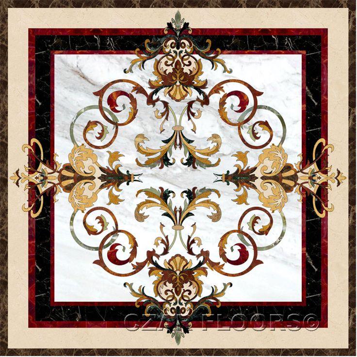 Larger Image For Garden III In Stone Medallions   Part Of Czar Floorsu2026