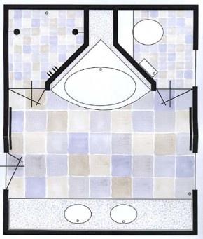 plattegrond badkamer opbouw