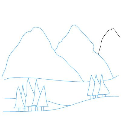 how to draw mountains on a map