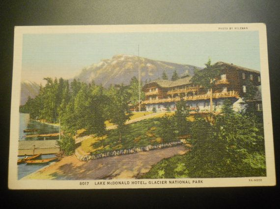 Hey, I found this really awesome Etsy listing at https://www.etsy.com/listing/262065196/lake-mcdonald-hotel-glacier-national