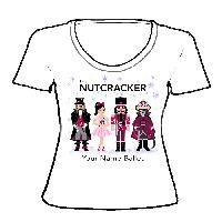 APP-42-SNT-Nutcracker Ballet Gifts Scoop Neck Shirt-Nutcracker Characters with Snowflakes