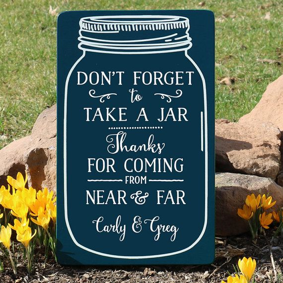 Mason Jar Wedding Sign / Grab a Jar Wedding by TheSignPatch