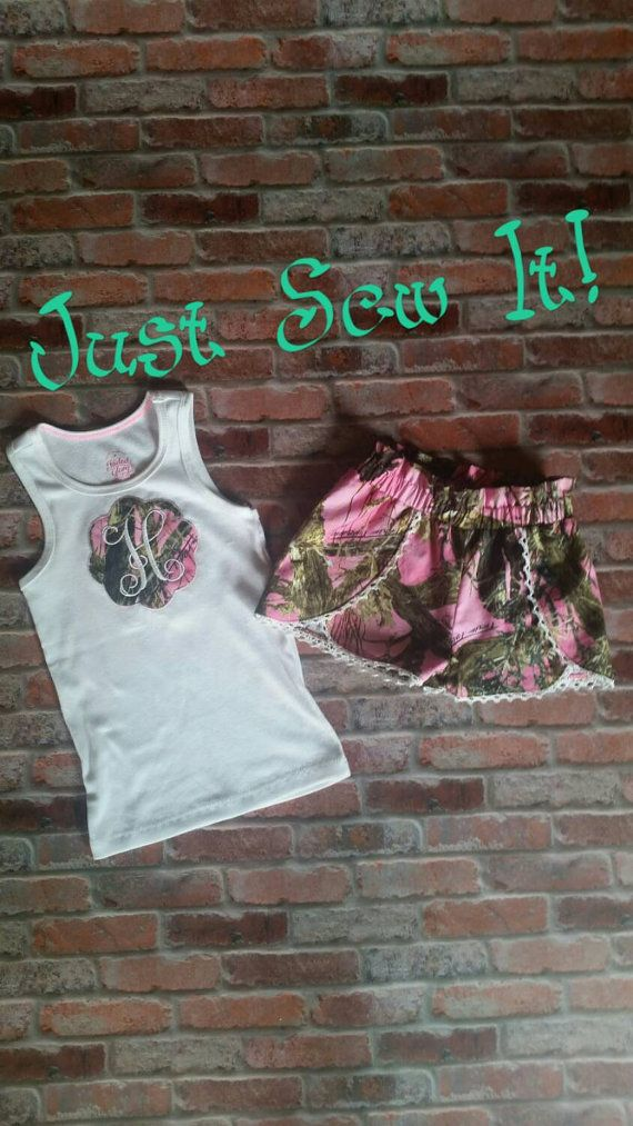 Check out this item in my Etsy shop https://www.etsy.com/listing/240343106/pink-camo-girls-outfit-pink-camo-shorts