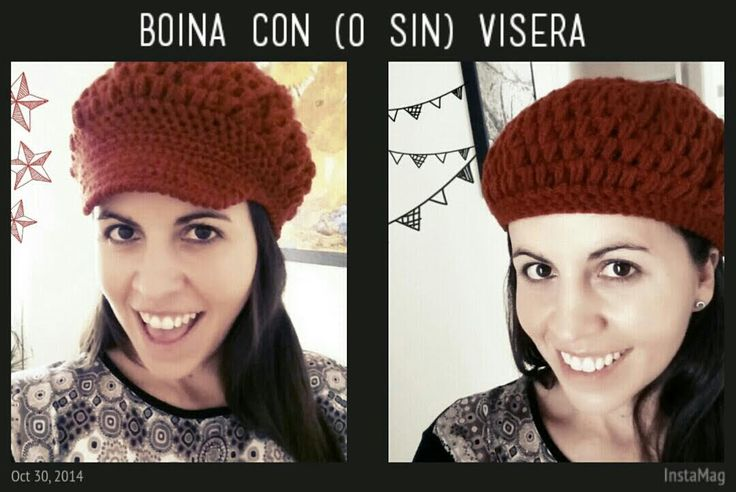 Boina con Visera - también para niñas - PARTE 1/2