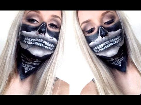 Skull Bandana Face Paint Tutorial ♡ Super Easy For ...