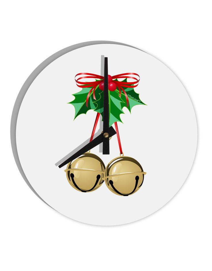 """Jingle Balls 8"""" Round Wall Clock"""