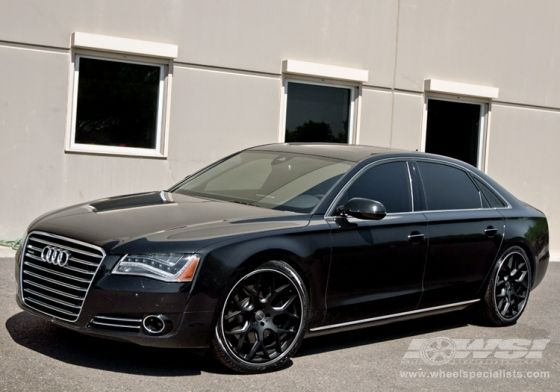 """2013 Audi A8 with 22"""" Gianelle Puerto in Matte Black wheels"""
