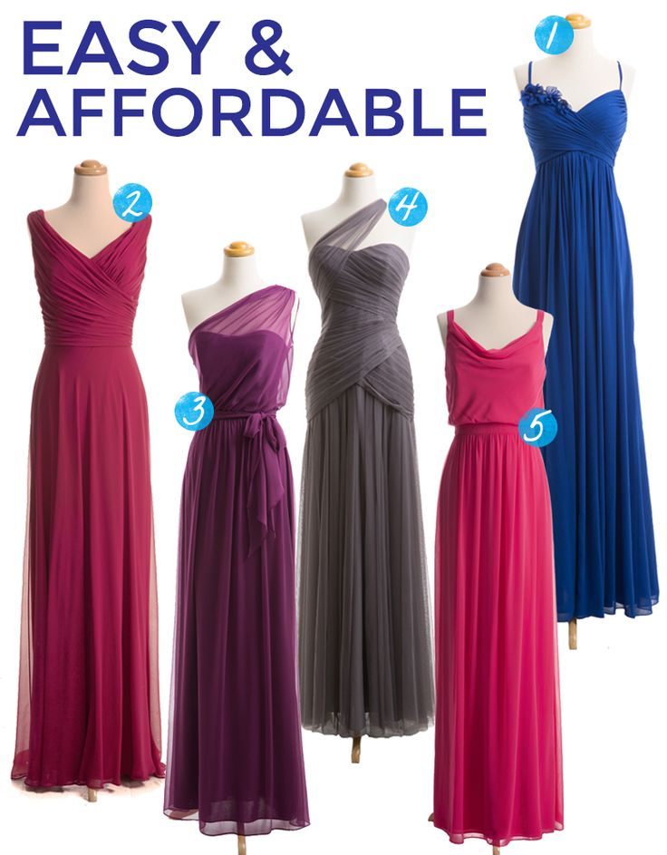 shop joielle.com for bridesmaids dresses as affordable and hot wedding dresses | A Practical Wedding