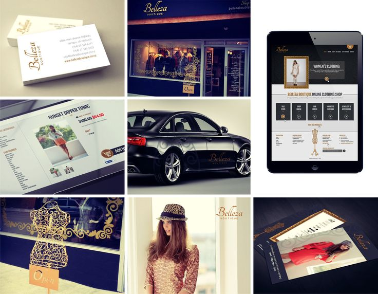 Belleza Boutique - Vehicle signage, print collateral and website.