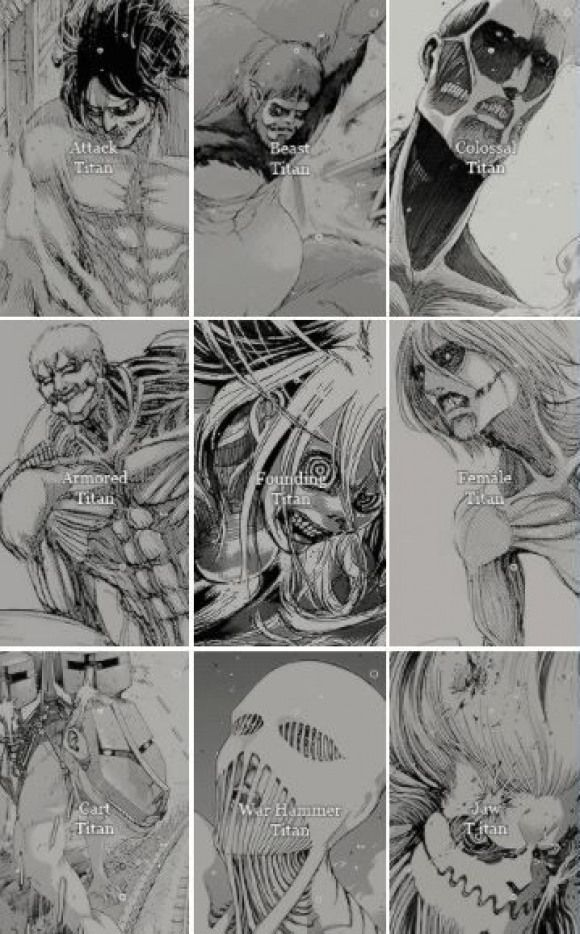 Shingeki No Kyojin Nine Titan Shifters The Power Of The Titans Is The Ability Which Allows S Titan Shifter Attack On Titan Anime Attack On Titan Art
