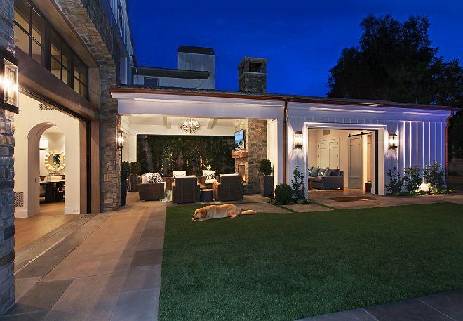 Backyard outdoor lighting. Patterson Custom Homes. Interiors by Trish Steele of Churchill Design.