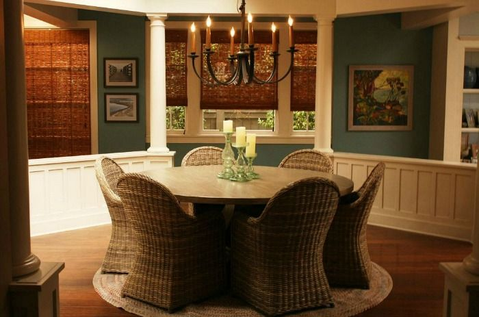 """Dining room from """"Grace and Frankie"""" beach house"""