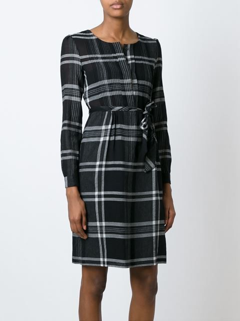 #Burberry Brit checked belted dress