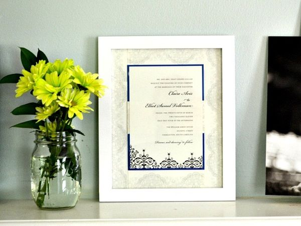 5 Ways To Save A Piece Of Your Wedding For Years Come Diy InvitationsWedding Invitation KeepsakeFramed