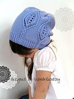 Lavender Rain hat pattern by Wondrlanding