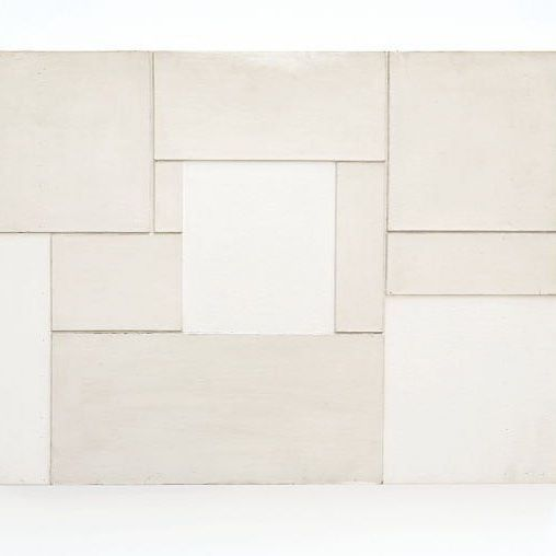 Ellsworth Kelly; 1950, Neuilly, Gesso on cardboard mounted on wood