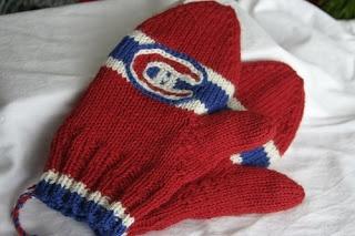knittypie's Crafty Blog: Montreal Habs Mittens