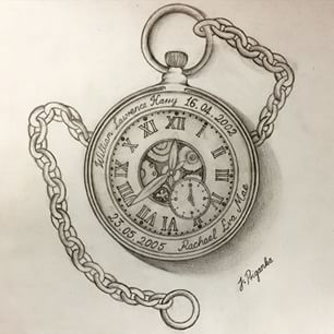 Download Free Open Pocket Watch Tattoo Designs | galleryhip.com   The Hippest ... to use and take to your artist.