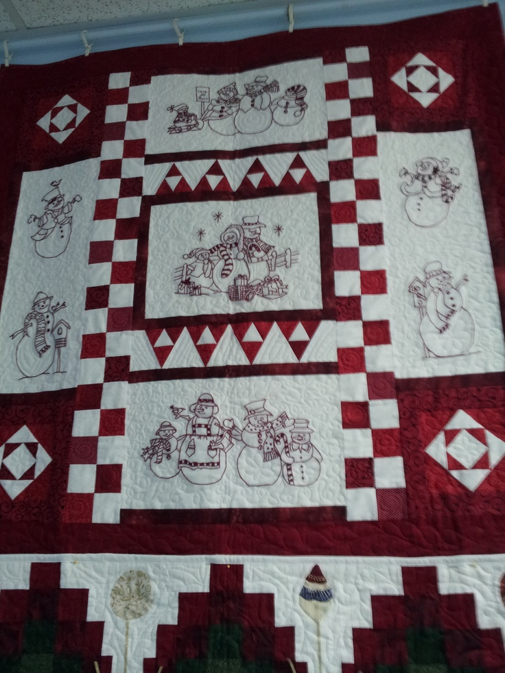 A variation on Crabapple Hill Studio's Winter Wonderland Quilt