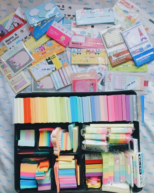 January 3, 2016 // 2:03 PM  My sticky notes collection that I have been growing for 3-4 years now. This is my life as a stationery addict.