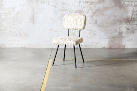 """Natural"" Shaggy Wool Chair 1"