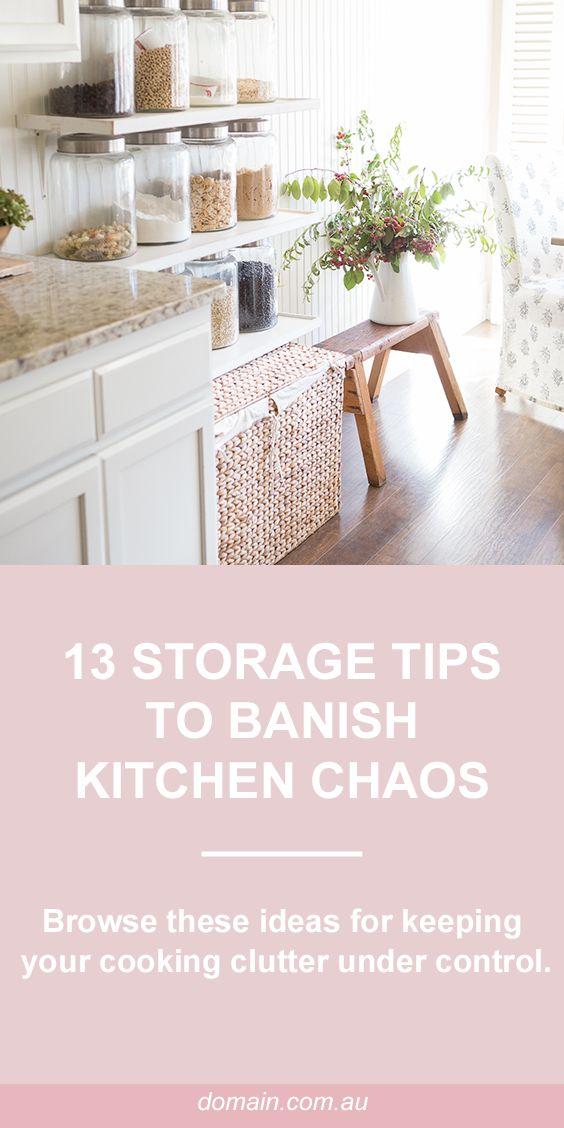 13 storage tips to banish kitchen chaos