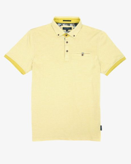 Oxford polo shirt - Yellow | Tops & T-shirts | Ted Baker UK